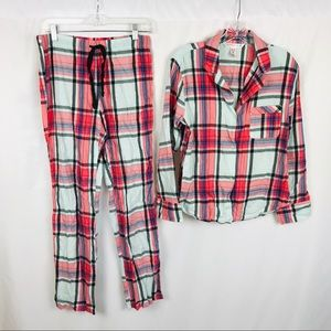 Victoria's Secret plaid flannel pajama set